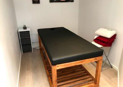 Massagebænk klar til brug