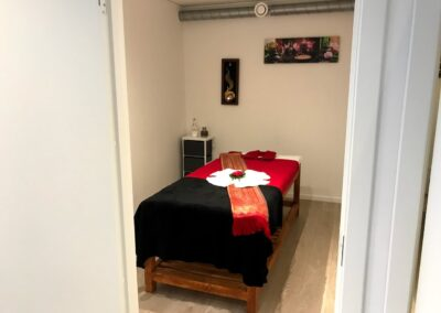 Massagebænk hos kunde